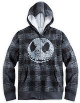 Disney Jack Skellington Plaid Zip Hoodie for Men