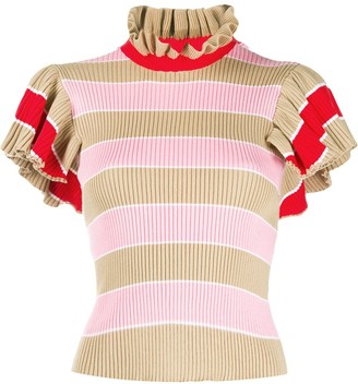 MSGM Knitted Ruffled Top