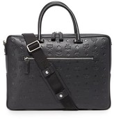 MCM Otto Monogrammed Leather Briefcase