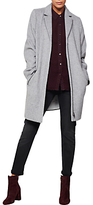 Mint Velvet Relaxed Wool Blend Coat, Silver Grey