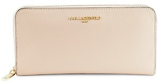 Karl Lagerfeld Paris Zip-Around Continental Leather Wallet