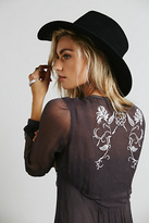 Free People Sheer Embroidered Maxi