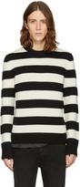 Rag & Bone Black and Off-white Shane Sweater