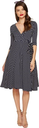 Unique Vintage Women's Kelsie Polka Dot Dress