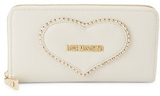 Love Moschino Logo Faux Leather Continental Wallet