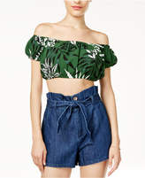 GUESS Striped Cropped Top