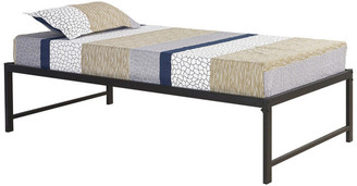 Pilaster Designs Archer Metal Daybed Frame With Metal Slats, Black, Twin