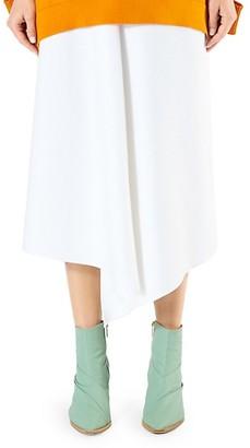 Tibi Asymmetric Suiting Cotton Skirt