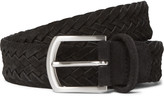 Andersons Anderson's - 3.5cm Black Woven Suede Belt