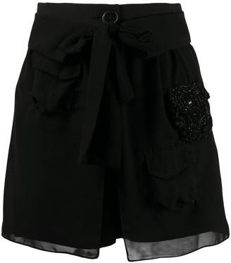 Almaz Embellished Silk Shorts