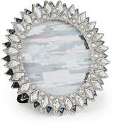 "Enchante 4"" x 4"" Silver-Tone Happy Jewel Round Picture Frame"