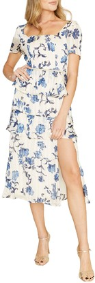 Dee Elly Floral Ruffled Dress
