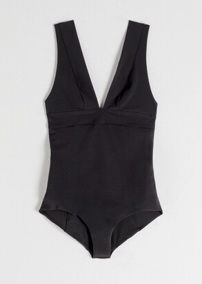 And other stories Plunging V-Neck Swimsuit