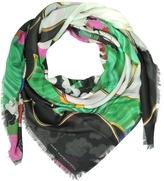Mary Katrantzou Jewel Cloud Print Modal & Cashmere Wrap w/Fringes