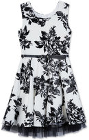 Amy Byer Floral-Print Skater Dress, Big Girls (7-16)