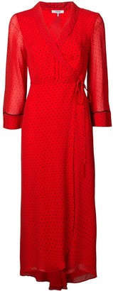 Ganni Polka-Dot Wrap Dress