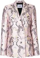 MSGM jacquard fitted blazer