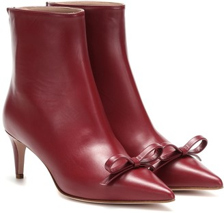 RED (V) leather ankle boots