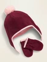 Capelli New York Infant//Toddler Girls Heart Hat /& Magic Mitten set Knit Gray $18
