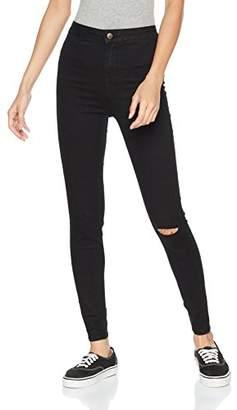 New Look Women's One Knee Slash Disco Skinny Jeans,Size