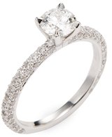 Rina Limor Fine Jewelry 18K White Gold & 0.55 Total Ct. Diamond Engagement Ring