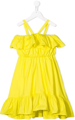 Msgm Kids Ruffled Sundress