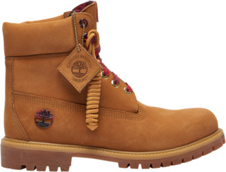 """Timberland 6"""" Premium Waterproof Boots Outdoor Boots - Wheat Plaid"""