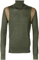 DSQUARED2 panelled turtle neck sweater