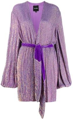 retrofete wrap V-neck dress
