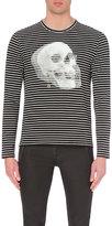 Alexander Mcqueen Skull Print Long-sleeved T-shirt