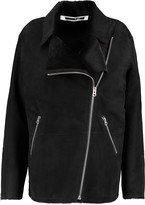 McQ by Alexander McQueen Calf hair-trimmed suede jacket