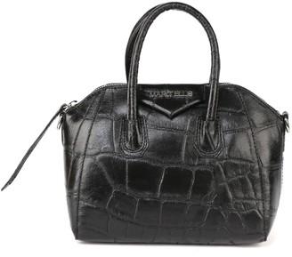 Marc Ellis Maggy S Bag In Crocodile-effect Embossed Leather