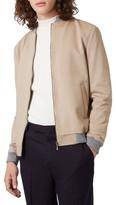 Topman Men's Jersey Bomber Jacket