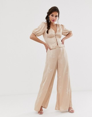 Finders Keepers Cristina wide leg pant in sketch print