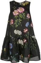 Oscar de la Renta floral jacquard shift dress