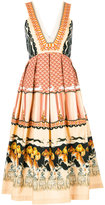 Temperley London pleated trim dress - women - Silk/Cotton/Viscose - 8