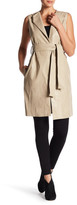 Gracia Faux Leather Belted Vest
