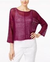 Eileen Fisher Organic Linen Boxy Sweater, Regular & Petite