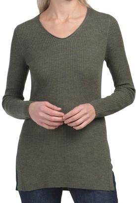 Extrafine Merino Wool V-neck Sweater
