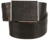 Calvin Klein Collection Embossed Leather Waist Belt