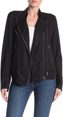 Blank NYC Blanknyc Denim Woven Moto Jacket