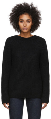 Helmut Lang Black Wool and Alpaca Ghost Sweater