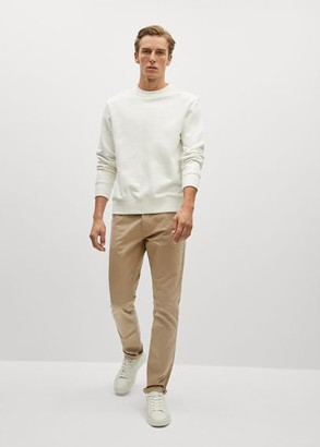MANGO Slim fit denim-effect serge trousers