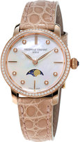 Frederique Constant Ladies' Slimline Moonphase Rose Gold Diamond Watch