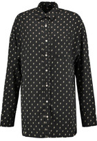 R 13 Printed Silk-Poplin Shirt