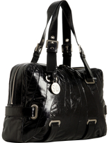 black patent leather 'Cala' large shoulder bag