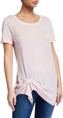 Marc Ny Performance Washed Jersey Faux-Knotted Tee