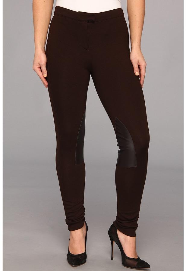MICHAEL Michael Kors MICHAEL Michael Kor Petite Knit Faux Leather Riding Pant Women' Caual Pant