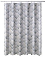 Nobrand No Brand J-Wave Shower Curtain - Charcoal (Print) - Allure