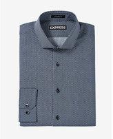 Express modern fit microprint dress shirt